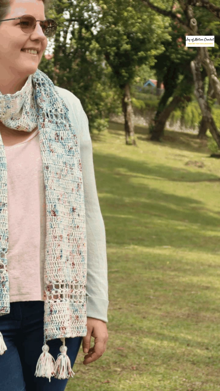 Photo of Cherry Blossom Scarf – FREE Crochet Pattern