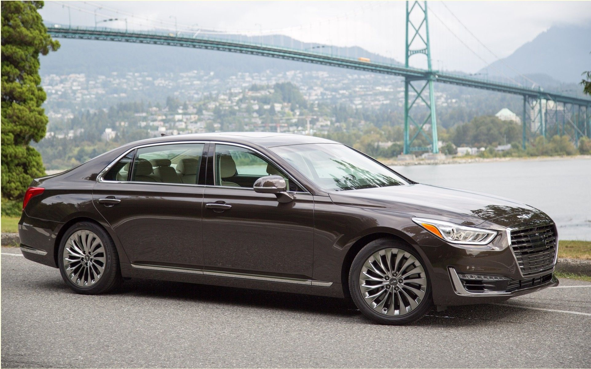 Today Is The Manufacturer Hyundai Officially Launches Its New Genesis Luxury Brand Ends Time Or One Found The Genesis Sed Hyundai Genesis Hyundai Luxury Sedan