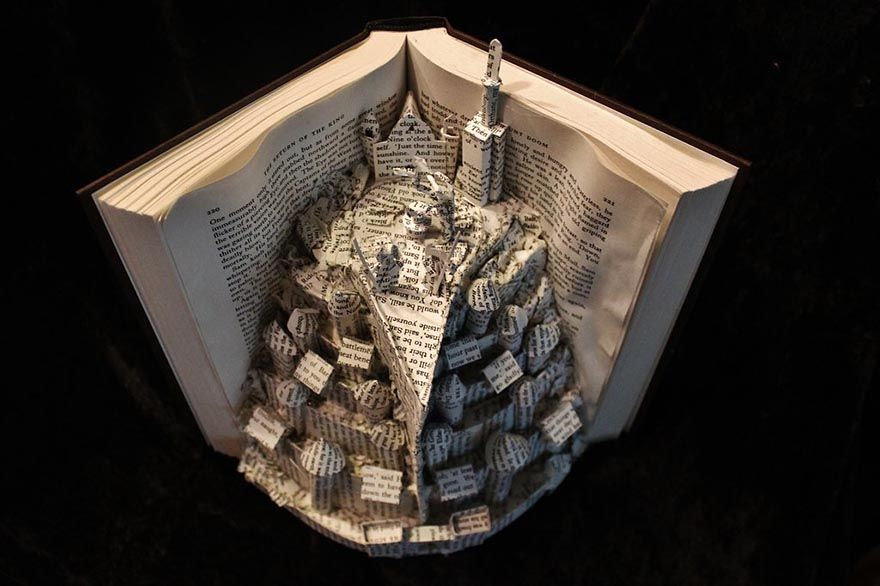 Artist gives old books a second life by making sculptures