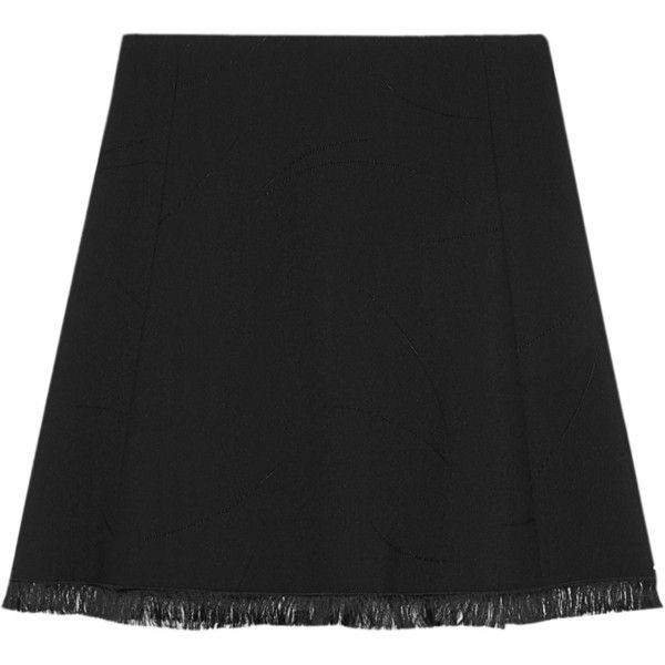Chloé Jacquard-crepe skirt (1.290 RON) ❤ liked on Polyvore featuring skirts, patterned skirts, jacquard skirt, print skirt, crepe skirt and chloe skirt