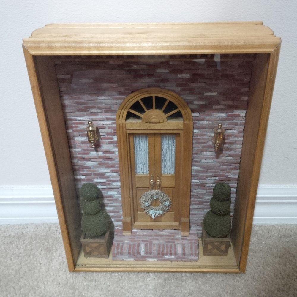 112 Dollhouse Miniature Room Box - Door for All Seasons - Artist Made & 1:12 Dollhouse Miniature Room Box - Door for All Seasons - Artist ...