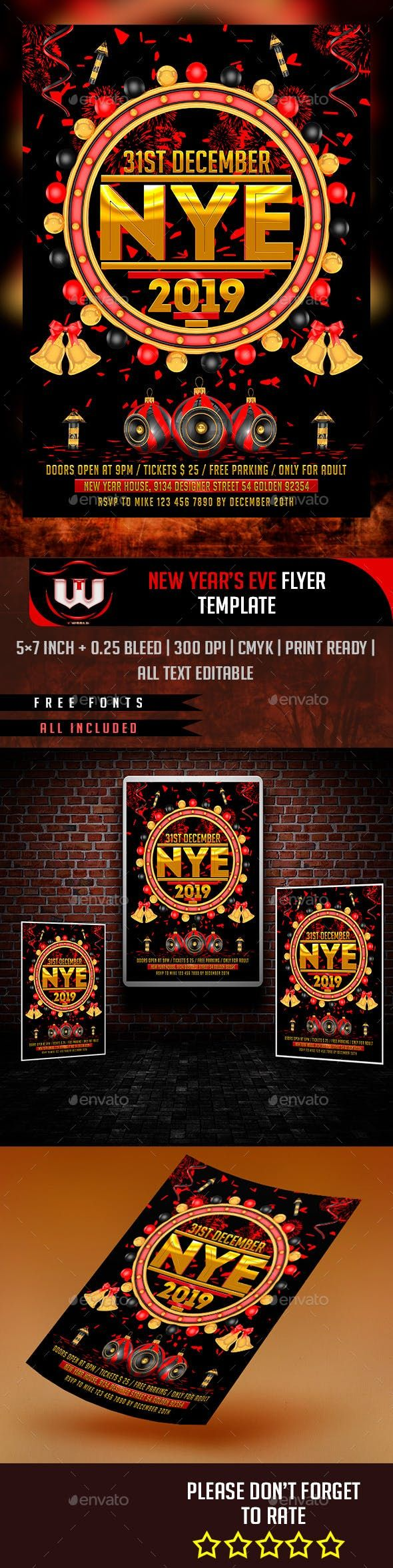 New Year Eve Flyer Events Flyers New year's eve