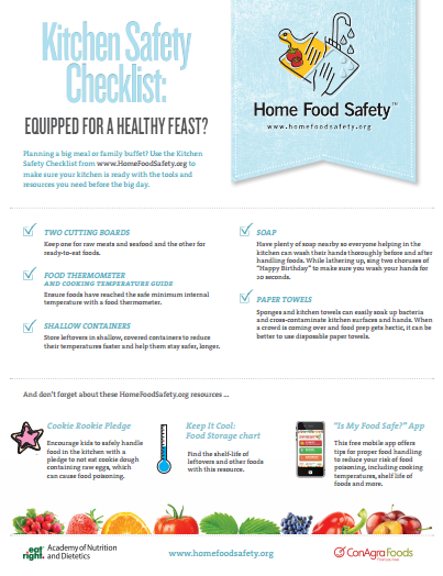 kitchen safety checklist   Home Food Safety   Healthy Habits