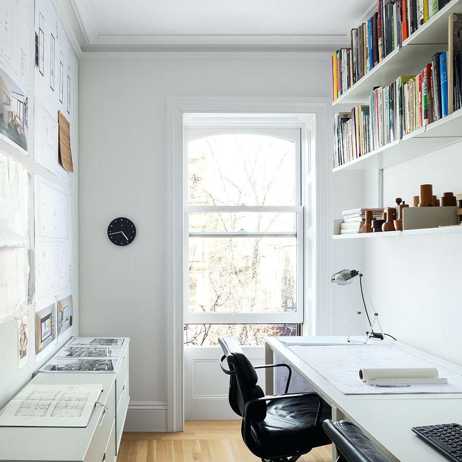 Office Ideas Surprising Small And Narrow Home Office Study Design