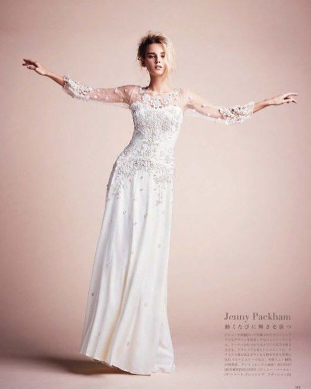 The Apache gown from the 2017 Bridal Collection featured in Martha Stewart Weddings Japan #JennyPackham #JennyPackhambride #Apache #instorenow