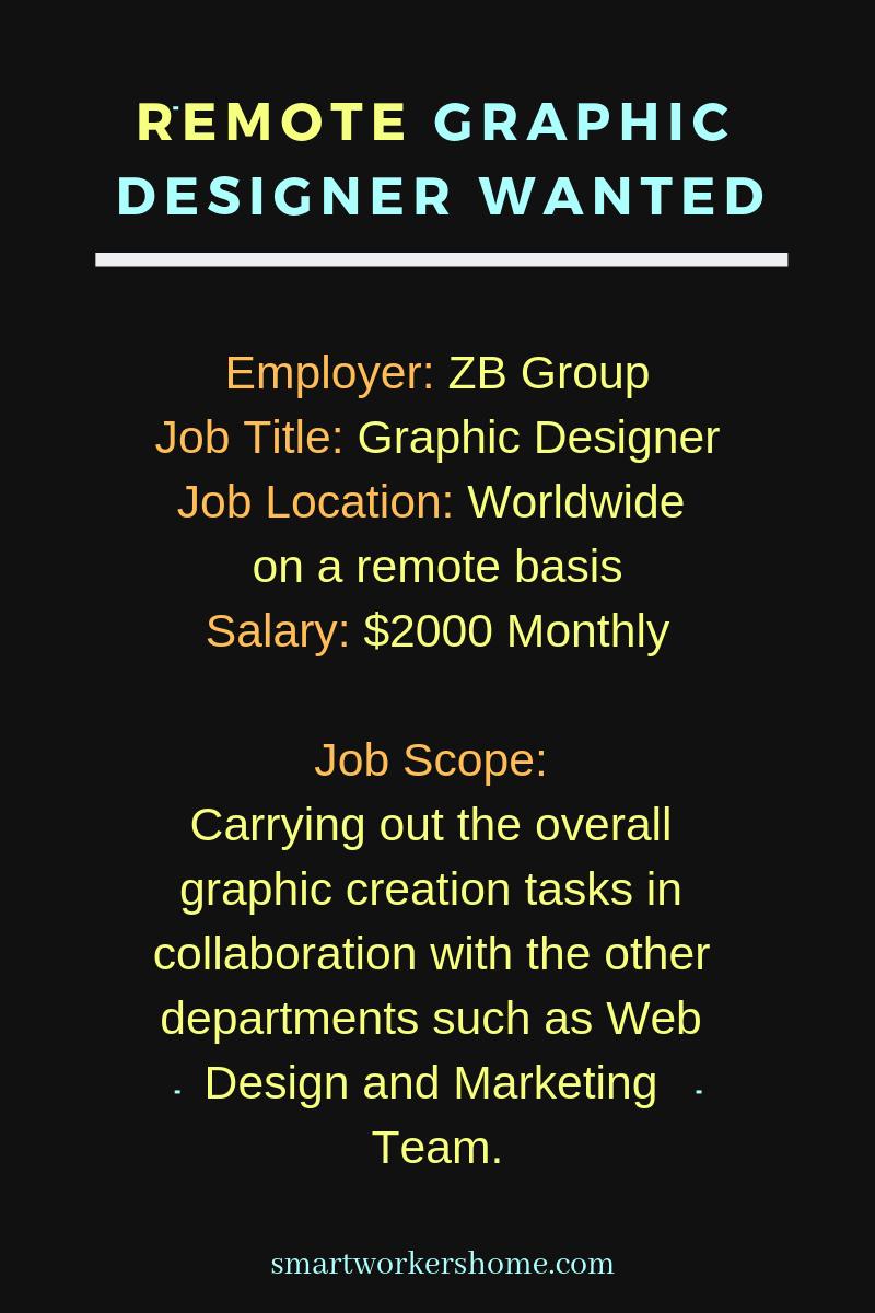 Remote Graphic Design Jobs