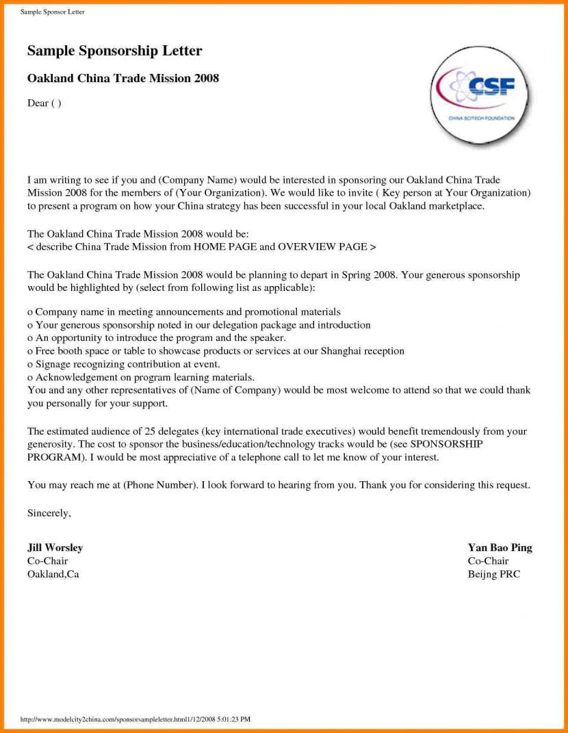 Sample proposal letter for sponsorship request template sample proposal letter for sponsorship request template termination word altavistaventures Image collections