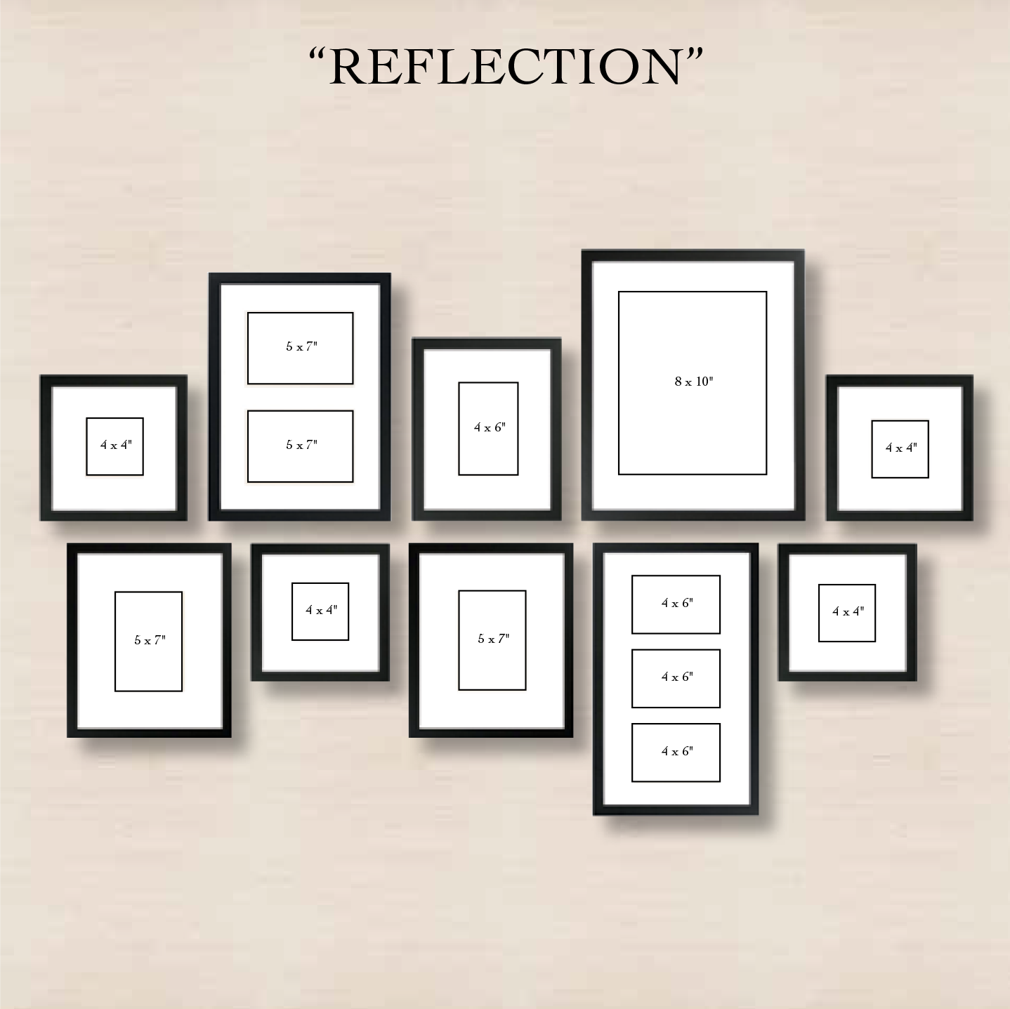 6 ways to set up a gallery wall gallery wall reflection and walls 6 ways to set up a gallery wall 4 reflection create order out of jeuxipadfo Images