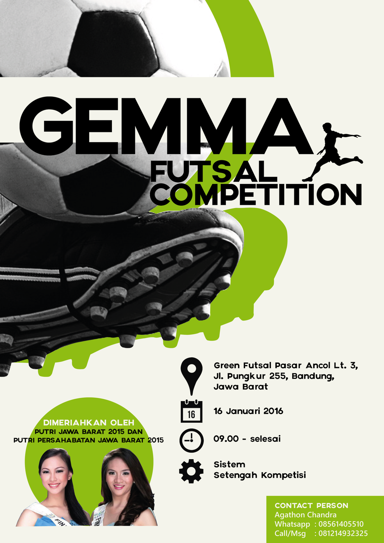 Poster design 2015 - Gemma Futsal Sport Competition 2015 Poster Design