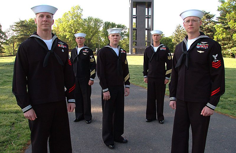 US Navy Dress Blues | Blue | Navy uniforms, Us navy uniforms