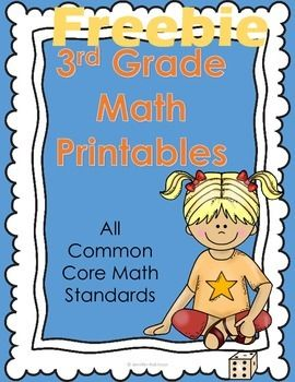 FREE 3rd Grade Math Worksheets Common Core Aligned  TpT Math