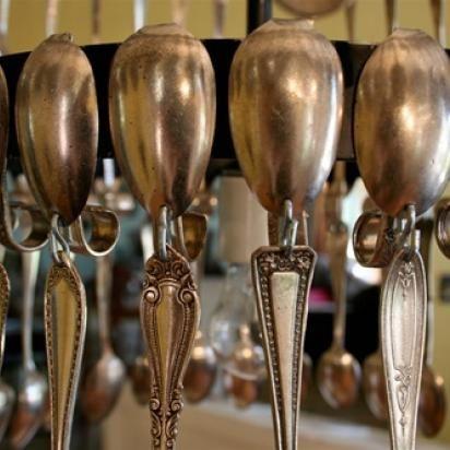 Silver Spoon Pendant Lamp   Green Bride Guide