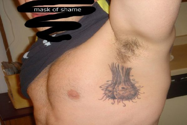 Ah yes testicles bizarre armpit tattoos bizarre armpit for Testicle tattoo pictures