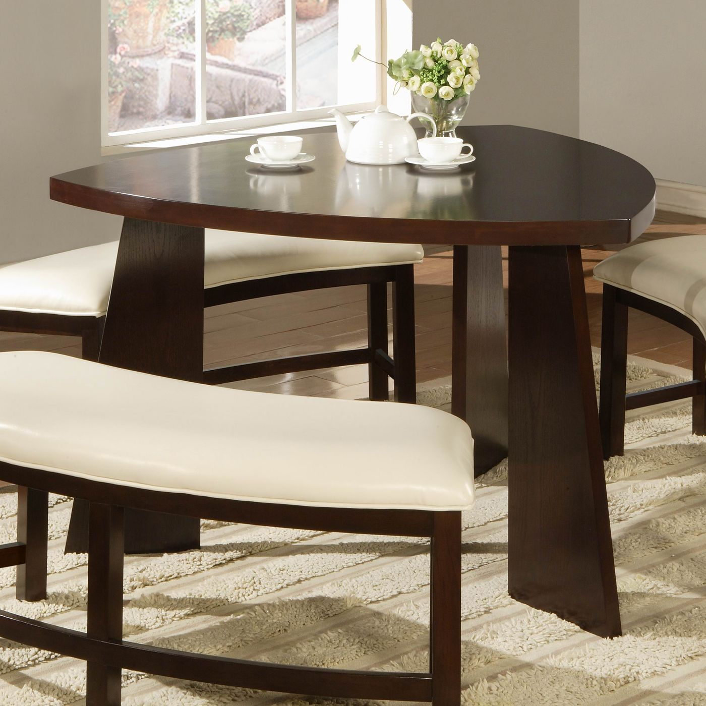 Homelegance 5315 Friendship Circle Triangle Dining Table Deep