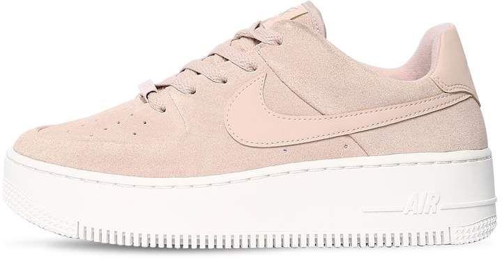 2019 Nike AF1 Air Force 1'07 se BEIGE IN PELLE ARGENTO