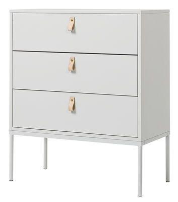 Commode Cute drawers 3 tiroirs L 70 x H 85 cm Gris clair