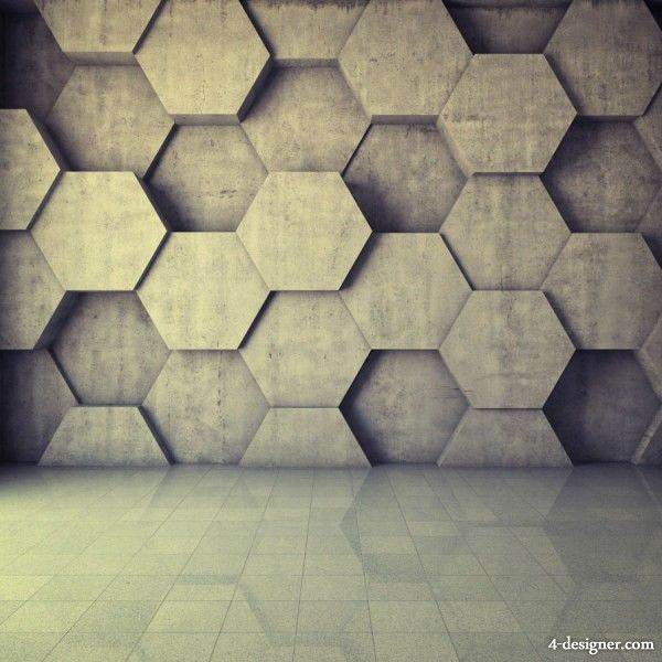 hexagonal wall design - Textured Wall Designs