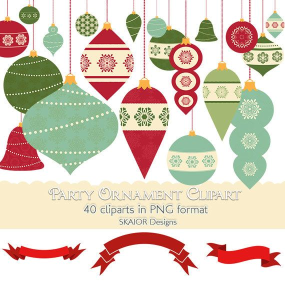 Christmas Ornament Clipart Party Holiday Tree Decorations Clip Art ...