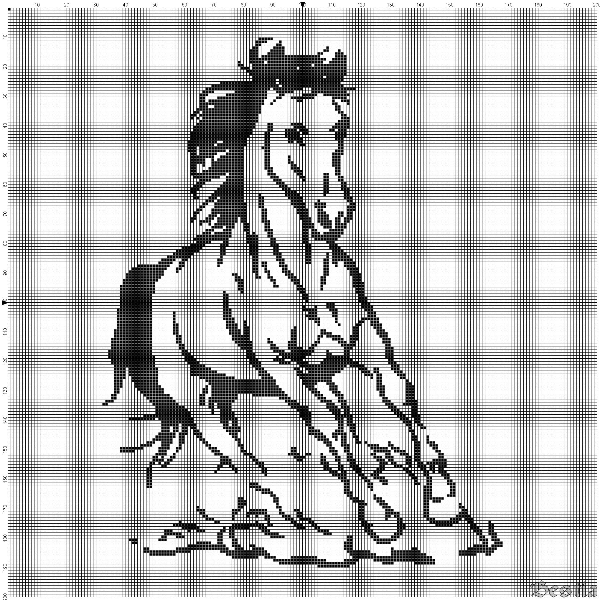 сшить лошадь схема