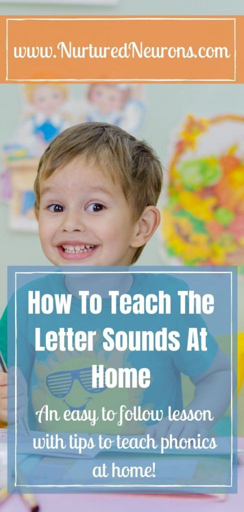 How to Teach the Letter Sounds at Home
