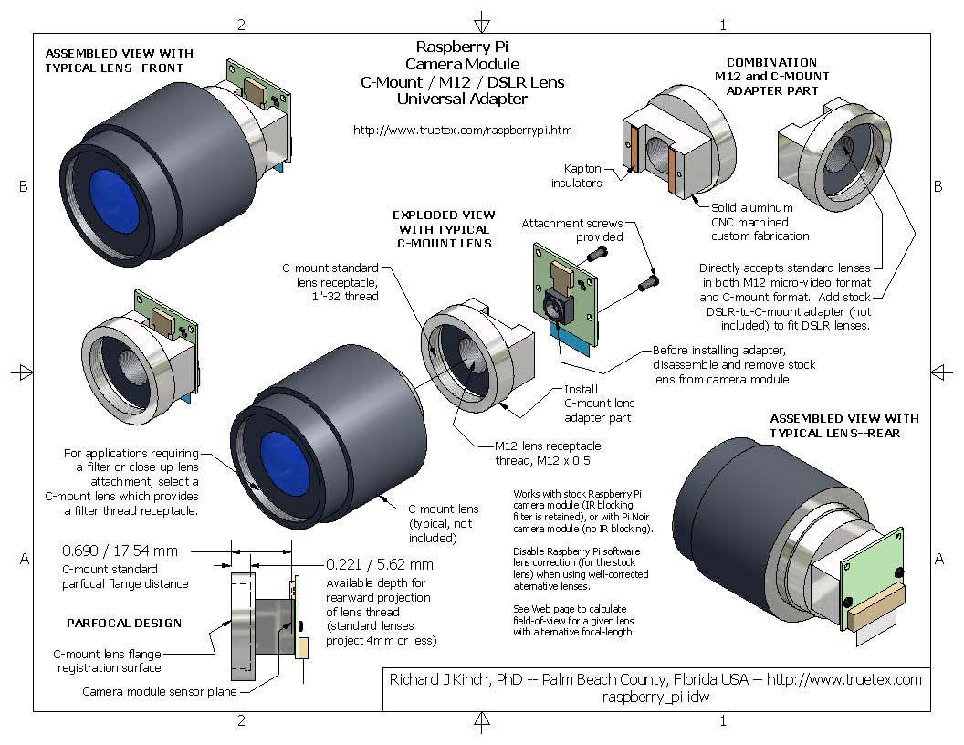 New M12 Small Camera Lens Mount For Raspberry Pi Good Quality