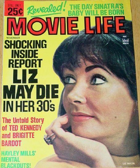 Elizabeth Taylor - Movie Life Magazine [United States] (November 1966)