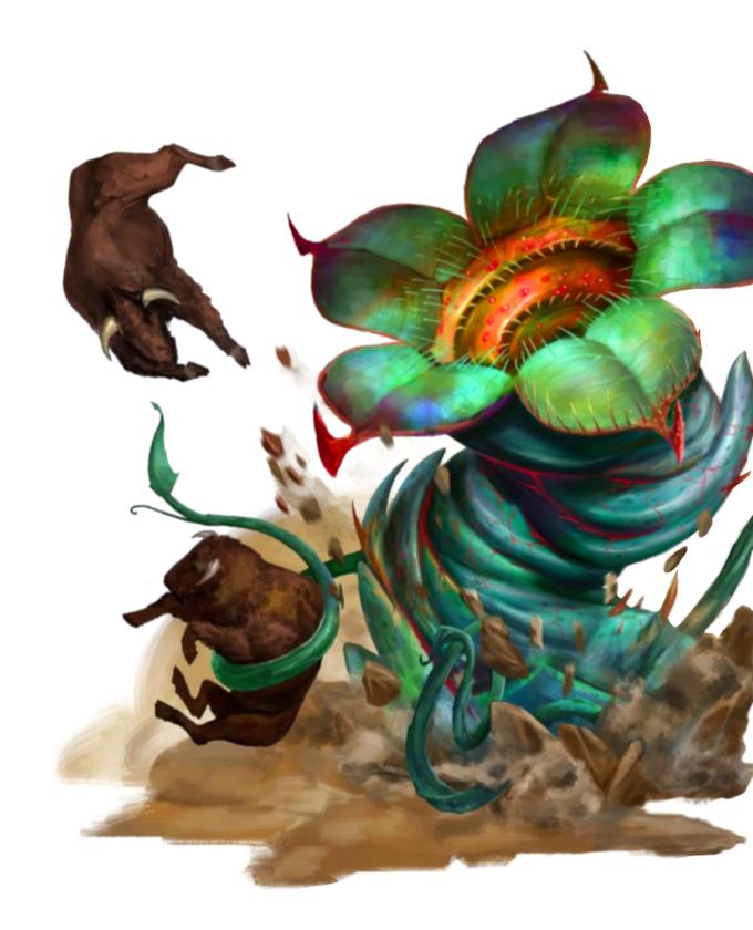 Cauldron Bloom - Plant Monster - Pathfinder PFRPG DND D&D 3 5 5E 5th