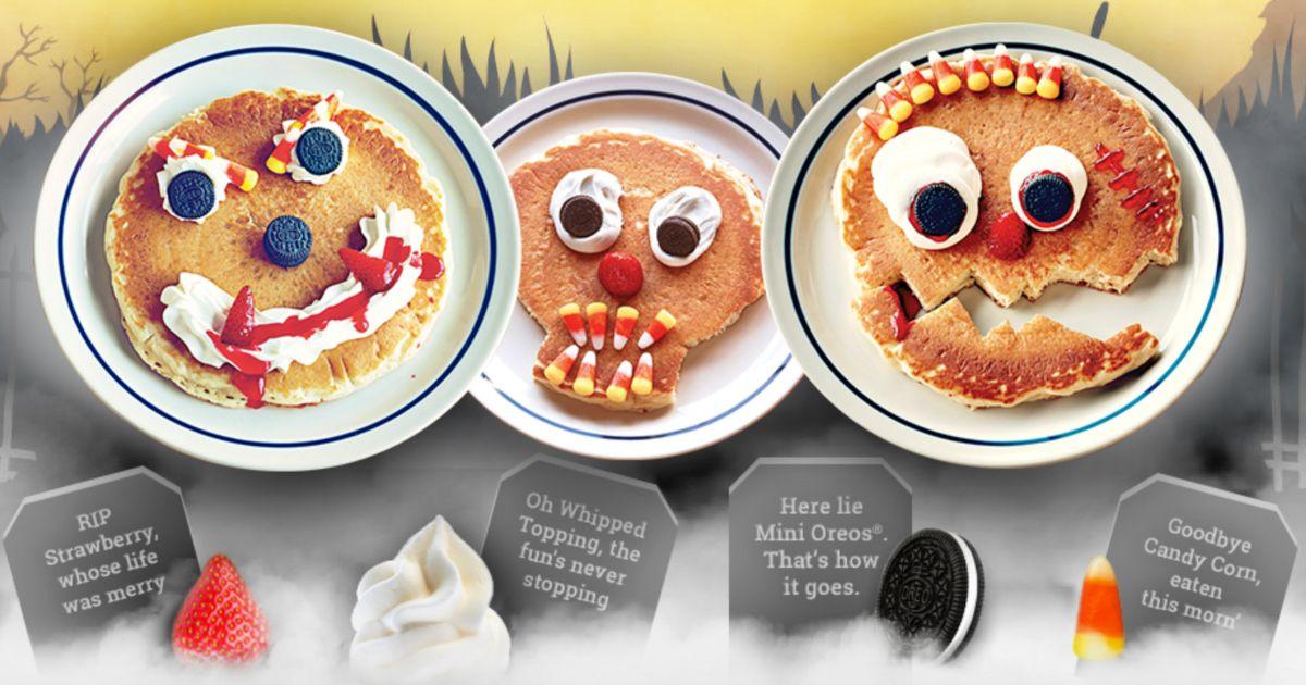 Free Scary Face Pancakes At Ihop Ihop Kids Pancakes Mini Oreo