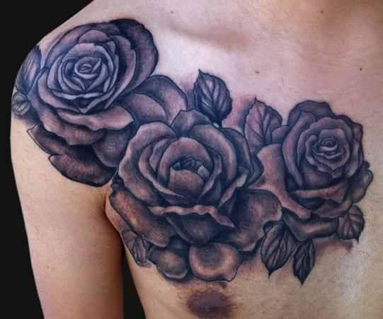 Rose Tattoo On Chest Design Of Tattoos Rose Tattoos For Men Black Rose Tattoos Black And Grey Rose Tattoo