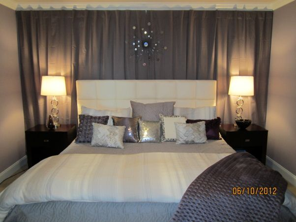 Wall Drapes Pinner Said: Master Bedroom, This Is A Small Room With A