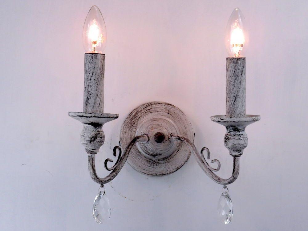 lampada da parete applique vintage retrò shabby chic per soggiorno ...