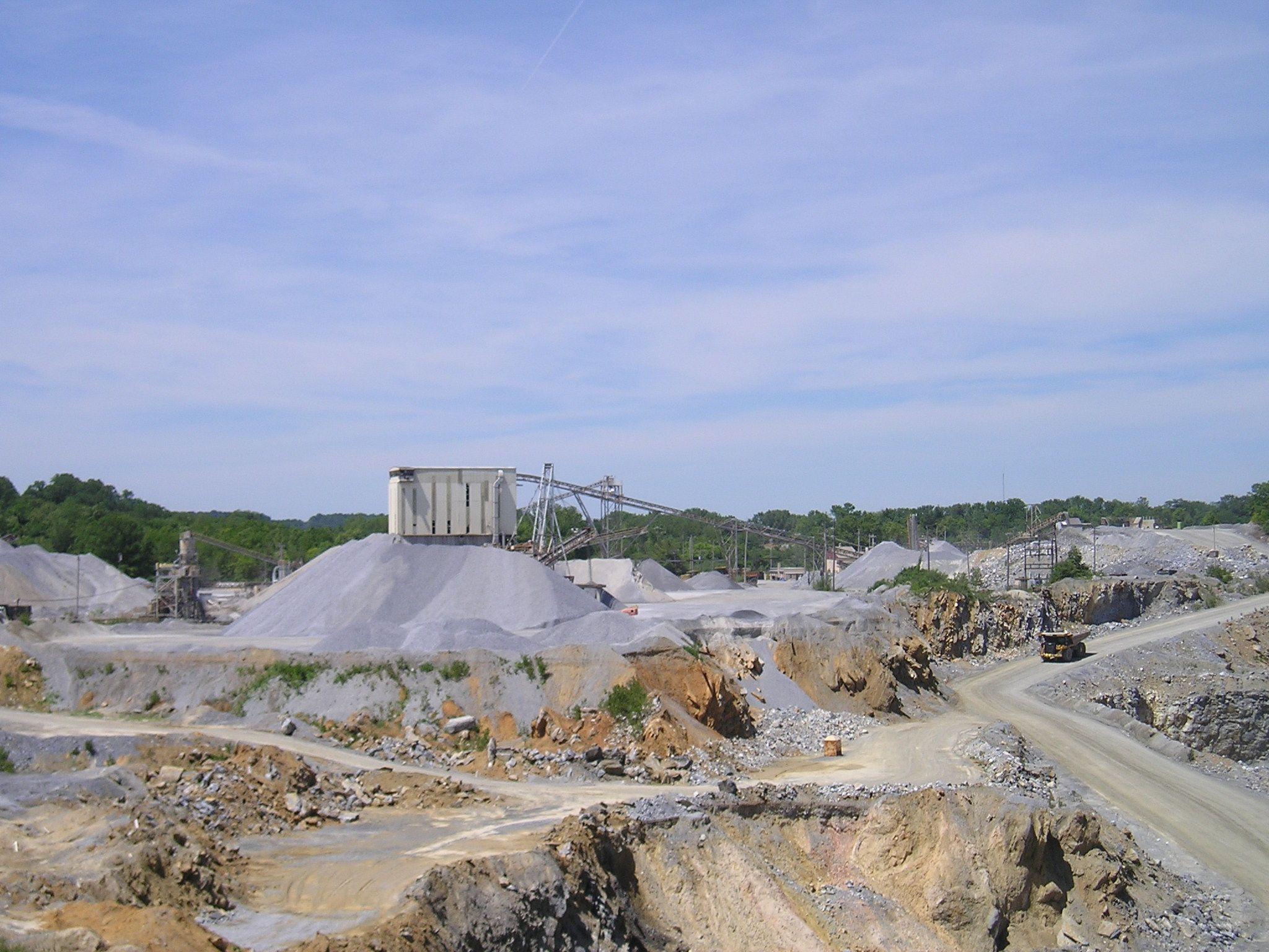 Lehigh Hanson's aggregate plant in Downingtown, Pennsylvania