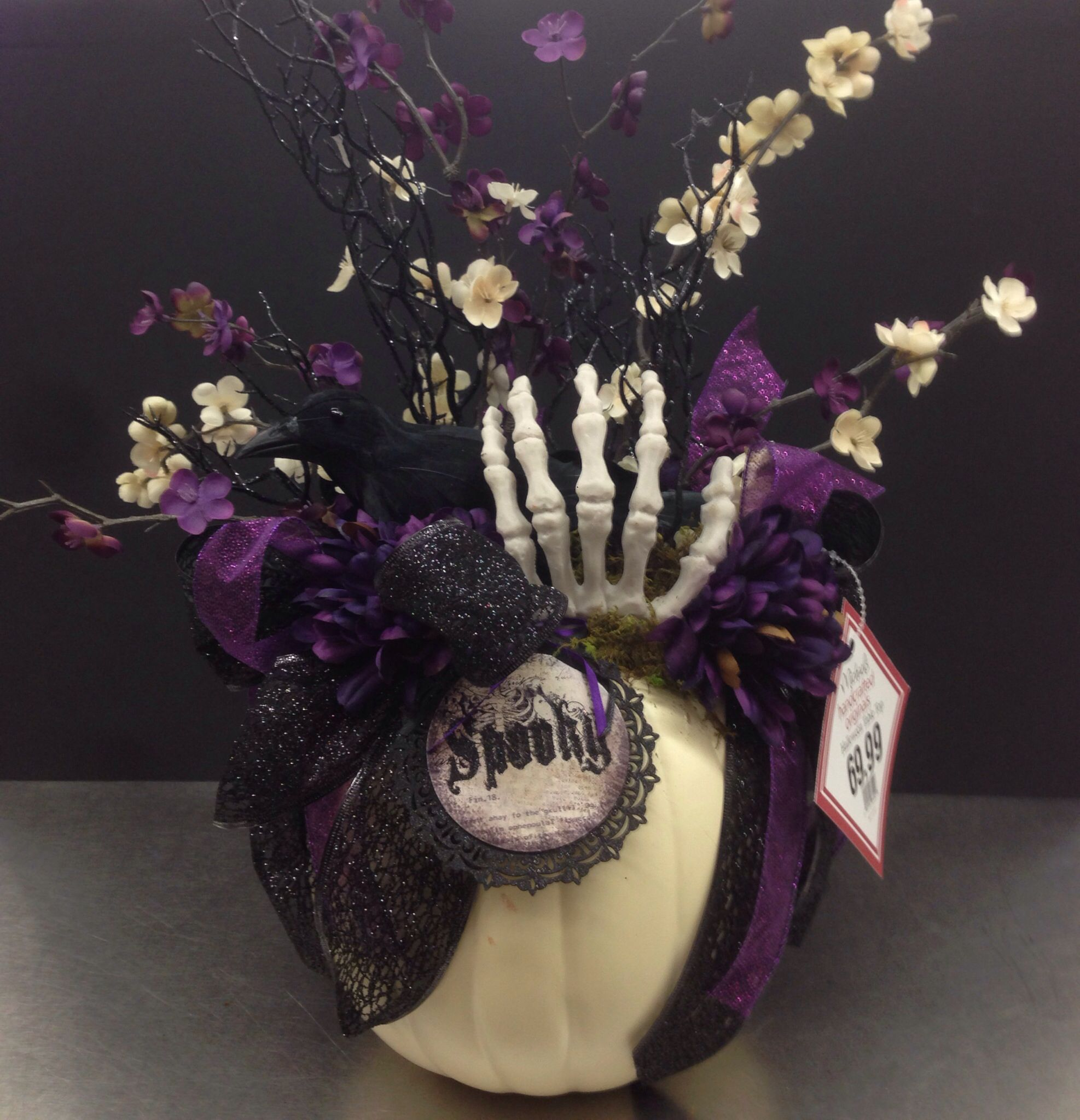 nevermore halloween collection floral design tara powers michaels of midlothian va