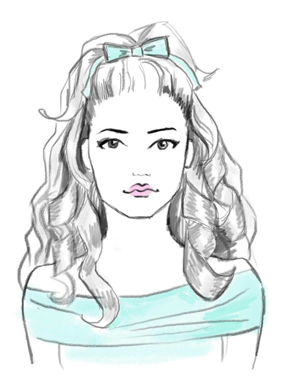 The baby doll trendy hairstyles sketching baby dolls menu dolls menu