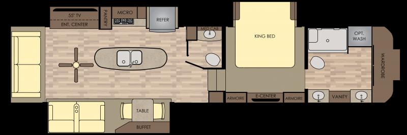 RW390/3901MB Floorplan Rv campers for sale, Camper