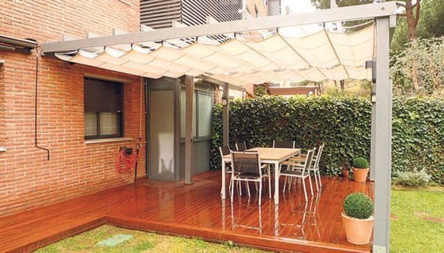 Toldos para patios de casas buscar con google techos - Techos moviles para patios ...