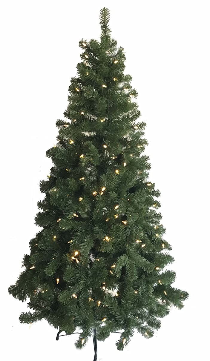Morning Star 6 Foot Artificial Pine Tree with 240 LED