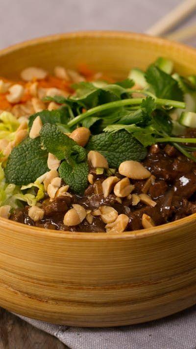 Bo Bun (French Vietnamese Beef Noodle Bowl)