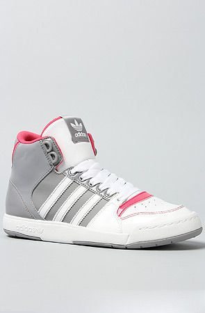 Primero hardware Hervir  These are dopeeee. The Midiru Court Mid 2.0 Sneaker in Aluminum White and  Super Pink by adidas | Sneakers, Adidas, Top sneakers