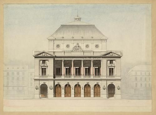 architectural drawings of buildings. Delighful Buildings Theater Faade Elevation Rendering Buildings Exterior Architectural Drawing  1890  EBay For Drawings Of L