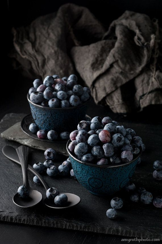 Restaurant Kitchen Photography large wall art — still life, blueberries, food photography