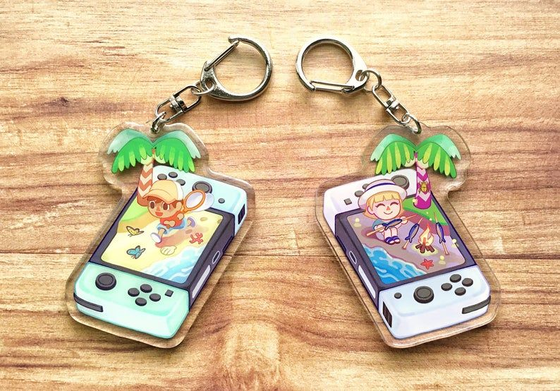 Animal Crossing Mini Switch Acrylic Charms in 2020