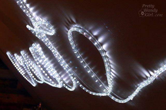 How To Create Rope Light Word Wall Art Light Wall Art Light