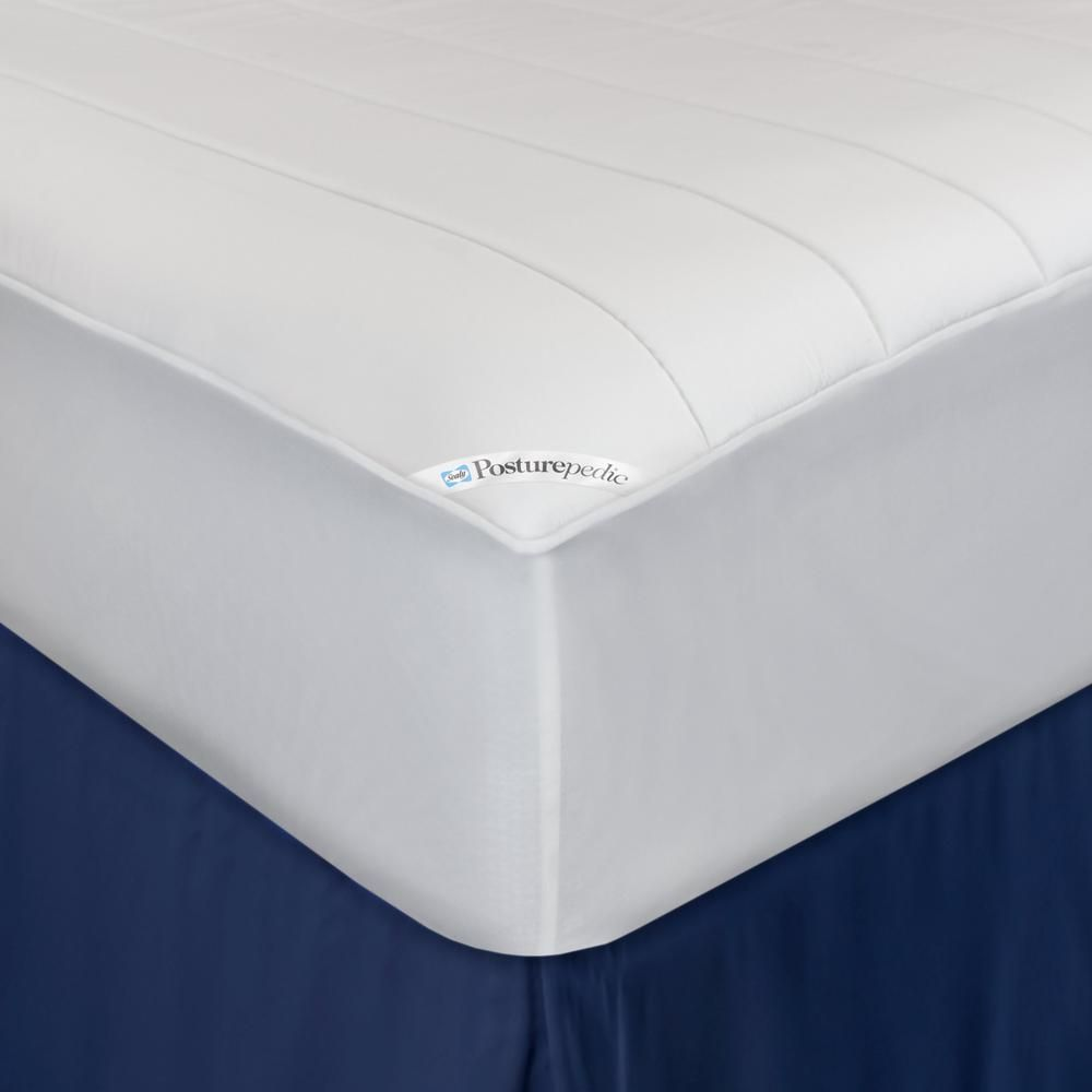 Sealy 15 In Twin Polyester Mattress Pad White Foam Mattress Mattress Mattress Protector