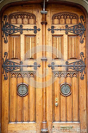 Old Wooden Doors with Brass Fixtures by Darryl Brooks via Dreamstime & Old Wooden Doors with Brass Fixtures by Darryl Brooks via ...