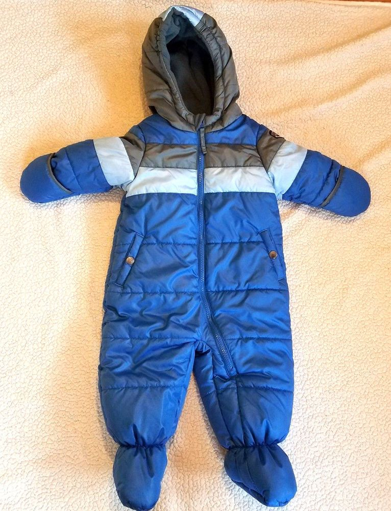 489a6c983 Rothschild R 1881 Baby Boy Snowsuit Snow Suit Sz 12 Month Blue One piece  Hooded #fashion #clothing #shoes #accessories #babytoddlerclothing ...