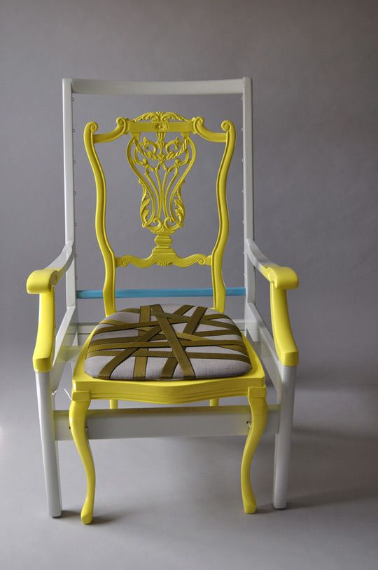 When Two Chairs Become One With Color designboom