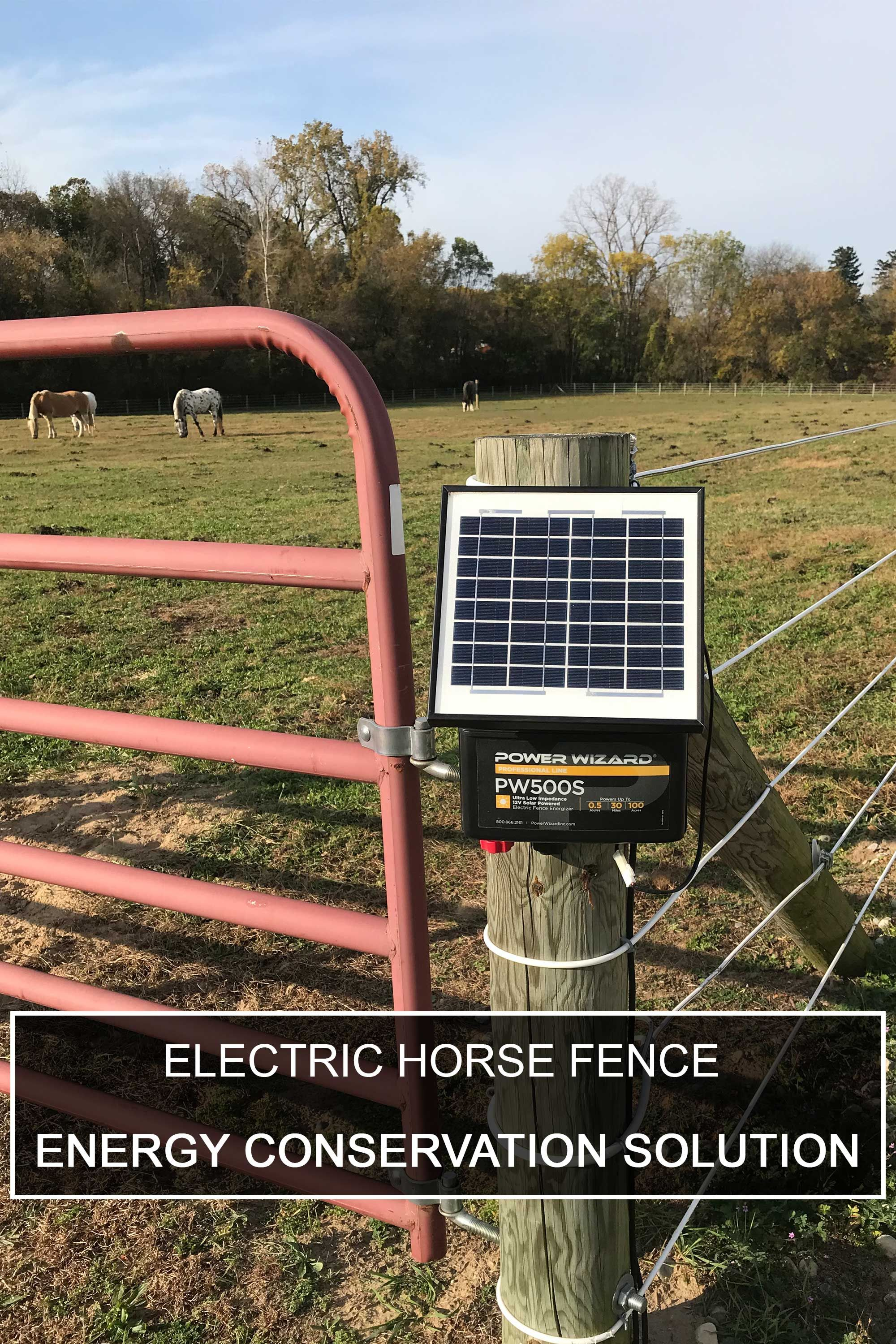 Electric Horse Fence Energy Conservation Solution In 2020 Solar Electric Fence Electric Fence Solar Solutions