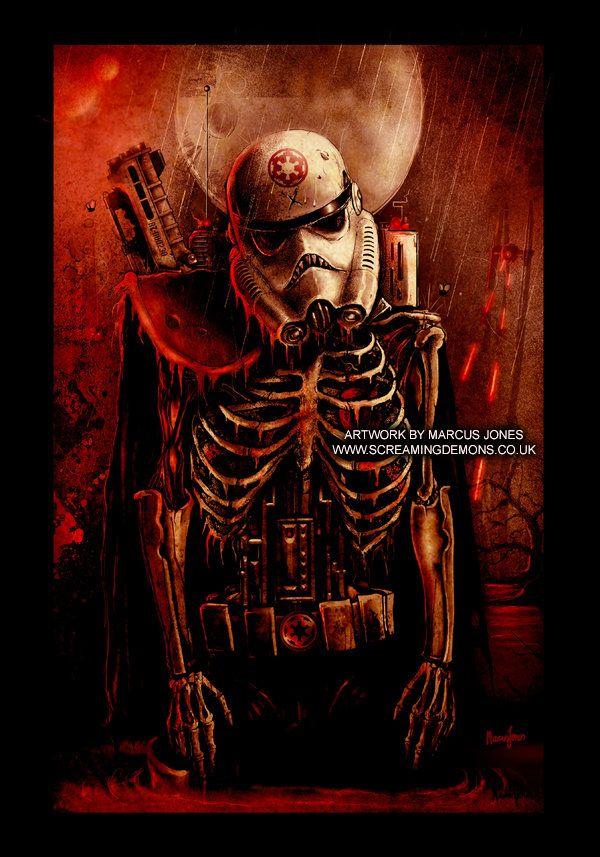 Star Wars Zombot Trooper By Marcus Jones Screaming Demons Star