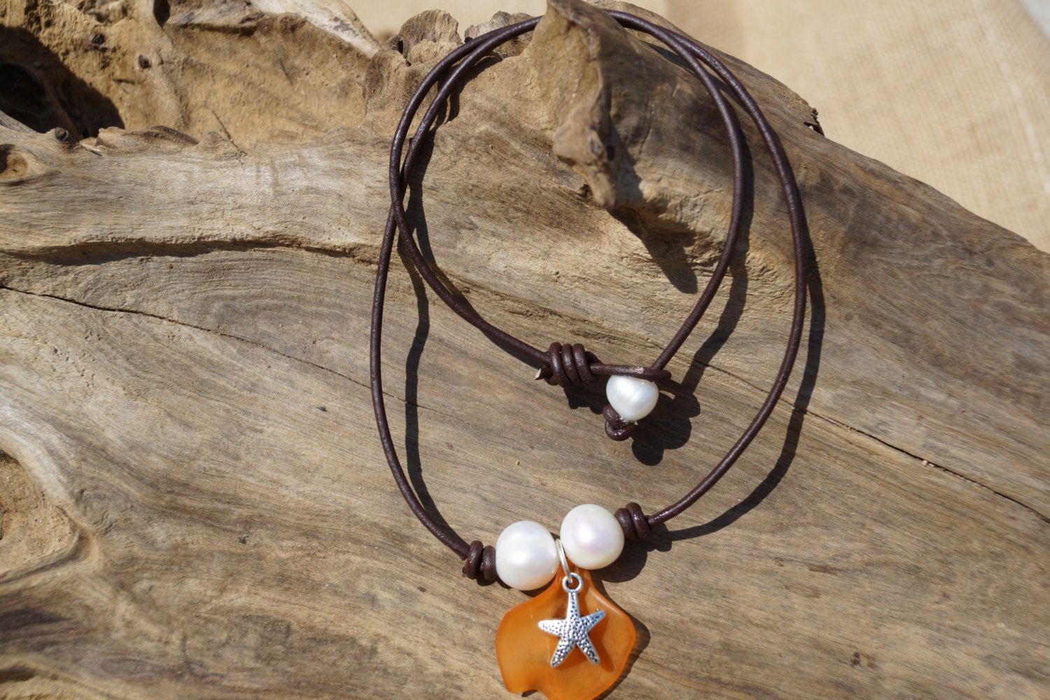A personal favorite from my Etsy shop https://www.etsy.com/listing/226853700/leather-an-pearl-necklace-freshwater